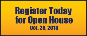 Register today for Open House on Oct. 28.